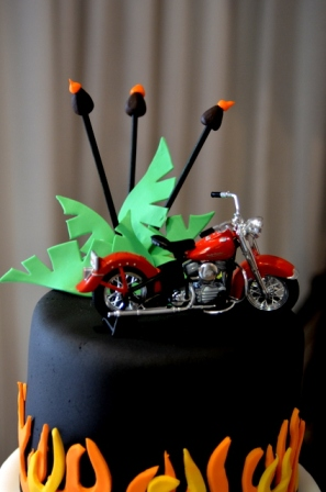 Jennifer's Cakes: Harley Davidson Flames Cake