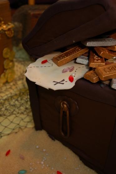 Pirate's Treasure Chest Cake